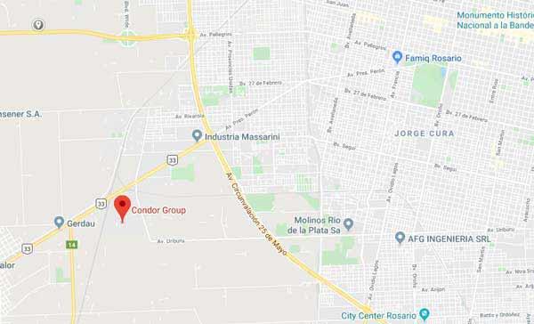 mapa de ubicación de empresa CONDOR GROUP